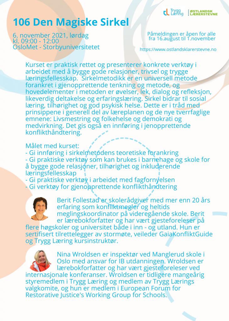Østlandsk lærerstevne 2021